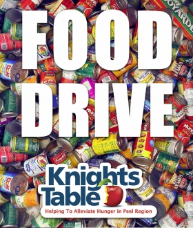 Food Drive in Support of Knights Table